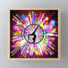 rainbow star gymnast Framed Mini Art Print