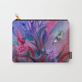 Fairy Bunny in Hiding Carry-All Pouch