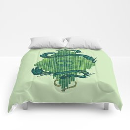 Green is the Color of Death Comforters