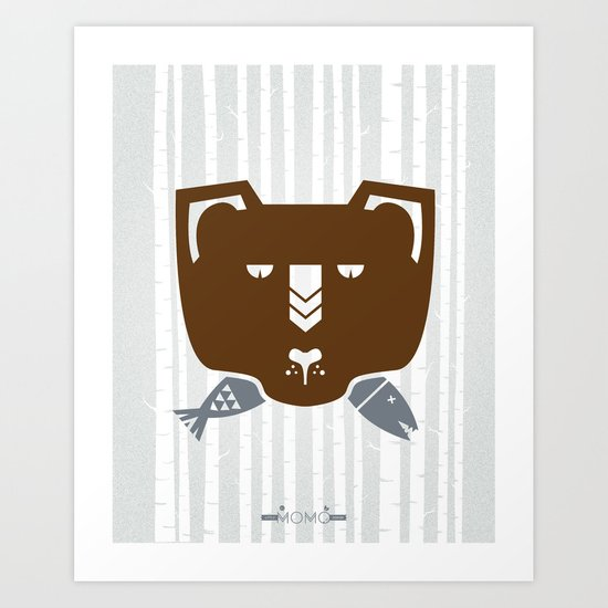 The Fish & Mr. Bear Art Print