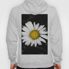 White daisy floating in the dark #1 Hoody