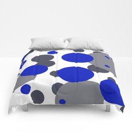 Bubbles blue grey- white design Comforters