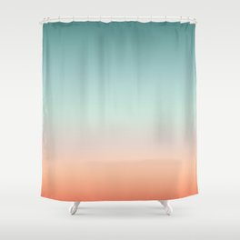 Color gradient background - fading sunset sky colors Shower Curtain