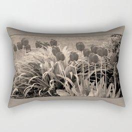 old timey tulips Rectangular Pillow
