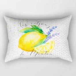 Les Citrons de Menton—Lemons and Lavender, Provence Rectangular Pillow