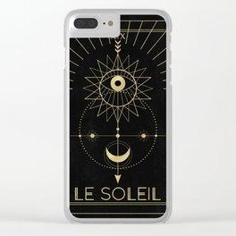 Le Soleil or The Sun Tarot Clear iPhone Case