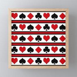 Four card suits Framed Mini Art Print