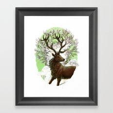 Red Stag Framed Art Print