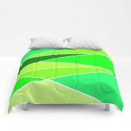 Broken Green Hues Comforters
