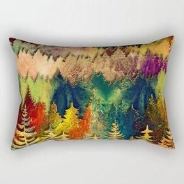 Abstract Mountain Landscape  and forest Digital Art Rectangular Pillow