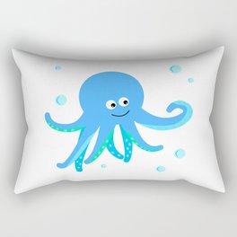 Blue baby octopus Rectangular Pillow