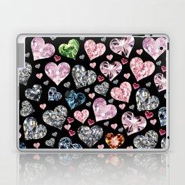 Heart Diamonds are Forever Love Black Laptop & iPad Skin