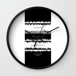 Lab No. 4 - Dave Mathews Band Crash into me Songs Waveform Lyrics Quotes Poster Wall Clock