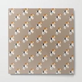 Beagle Pattern Metal Print