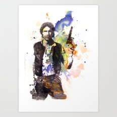 Han Solo From Star Wars  Art Print