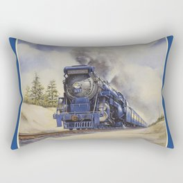 The Seashore's Finest Train Rectangular Pillow