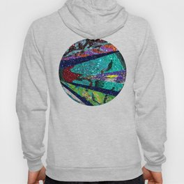Peacock Mermaid Battlestar Galactica Abstract Hoody