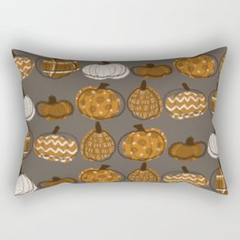 Pumpkin Party in Nougat Rectangular Pillow
