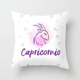 Zodiac signs collection - Capricorn/Capricornio Delvallediseno Throw Pillow