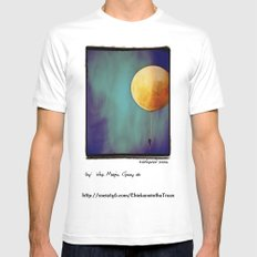 Tethered Moon MEDIUM White Mens Fitted Tee