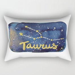 Taurus Zodiac Constellation Rectangular Pillow
