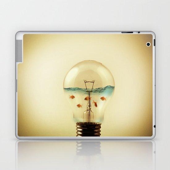 gold fish globe Laptop & iPad Skin
