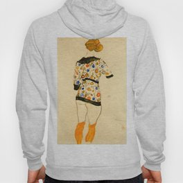 "Egon Schiele ""Standing Woman in a Patterned Blouse"" Hoody"