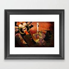 Jack vs. Aku Framed Art Print
