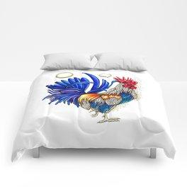 Gallo de las dos lunas Comforters
