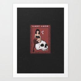 Lady Luck - I Art Print