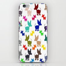 colorful chihuahuas on parade  iPhone & iPod Skin