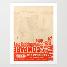 Less rubbing with DuPont Art Print
