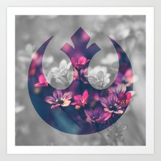 Floral Rebel Alliance Art Print