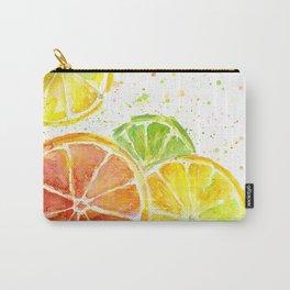 Fruit Watercolor Citrus Carry-All Pouch