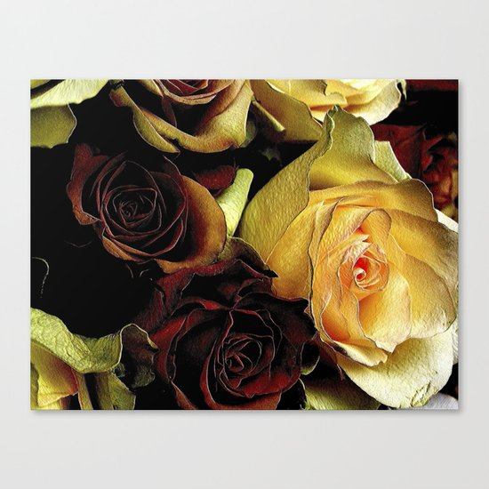 LOVE over GOLD Canvas Print
