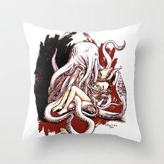 Cuthulhu Love Throw Pillow