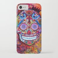 sugar skull iPhone & iPod Cases featuring Sugar Skull by oxana zaika