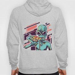 Alien eating Pizza Hoody