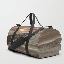Fort Tilden Beach NYC sunset Duffle Bag