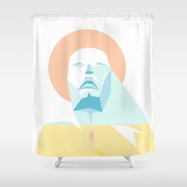 The Sea Inside Shower Curtain