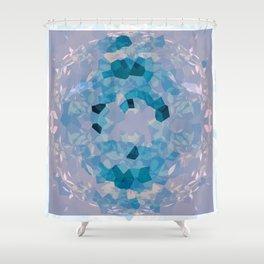 SYCAMORE STAMP SWIRL PASTEL Shower Curtain