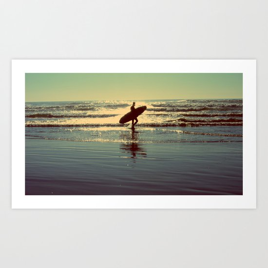 Evening Surf Art Print