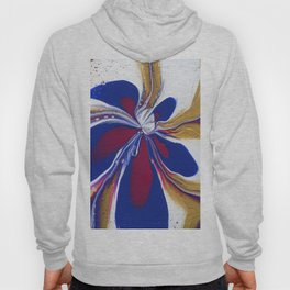 Floral Fluidity - Abstract, acrylic, fluid, painting Hoody