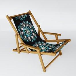 Blue Flower Mandala Sling Chair