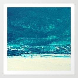 Icy Wave Pattern Art Print
