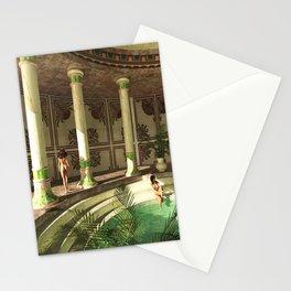 Greek bath beauties Stationery Cards