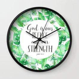 Psalm 46:1 Wall Clock