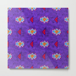 Saved by the Bellding 80s 90s Aztec Acid Wash Pattern Metal Print