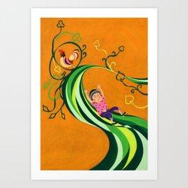 Jack & The Beanstalk Art Print
