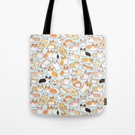 Corgilicious Corgi Doodle Tote Bag